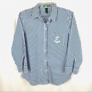 LIKE NEW Lauren Ralph Lauren nautical anchor shirt